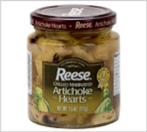 Reese Grilled Marinated Artichoke Hearts 7.5 Ounce (Pack of 4)