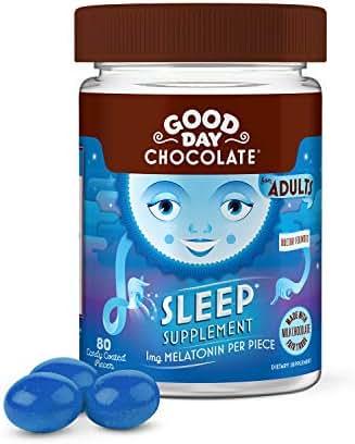 Good Day Chocolate Melatonin Supplement, Natural Sleep Aid (80 Count)