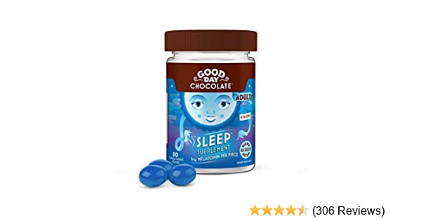 Good Day Chocolate Melatonin Supplement, Natural Sleep Aid (80Count)