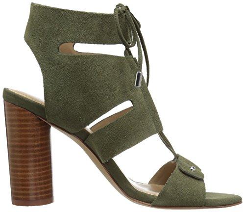 Sandal Dress Page Women's Ghillie Green Block Fix Heel The zga1w4