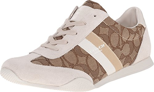 Coach-Kelson-Outline-Womens-Sneaker-Size-US-85-Khaki-Chalk
