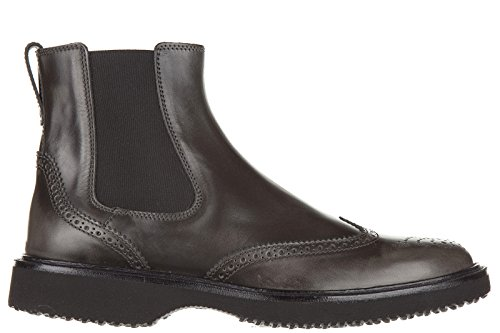 Hogan stivaletti bottes homme en cuir h217 route gris