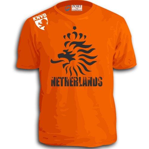 Stryker Netherlands Soccer Team Shirt Adult Orange Knvb (3XL)