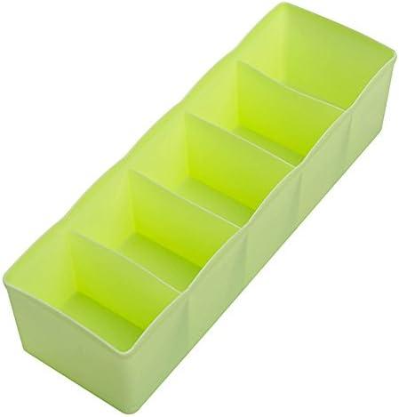 Demarkt Caja de Almacenaje Compartimentos Organizador Ropa Interior Calcetines Corbatas Cinturones Bragas, Corbata, Compartimento, Caja de Almacenamiento 1PCS: Amazon.es: Hogar