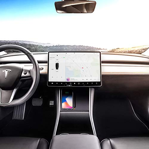 Wireless Charging Pad for Tesla Model 3 with Dual USB Ports, Dual Phones  Fast Charging