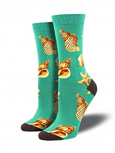 Deep Seashell (Socksmith Womens Bamboo Sea Shells - Deep Aqua)
