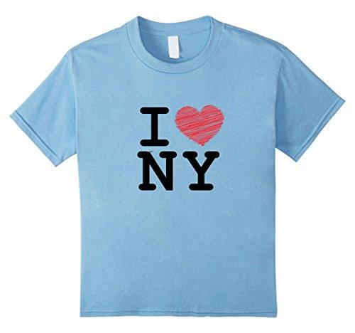 Heart Kids T-shirt - Kids I love Newyork, T-shirt, Sleeveless, NY, Heart 4 Baby Blue