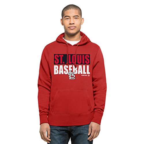 MLB St. Louis Cardinals Men's '47 Headline Pullover Hood, Red, Small (Red Sweatshirt Mlb)