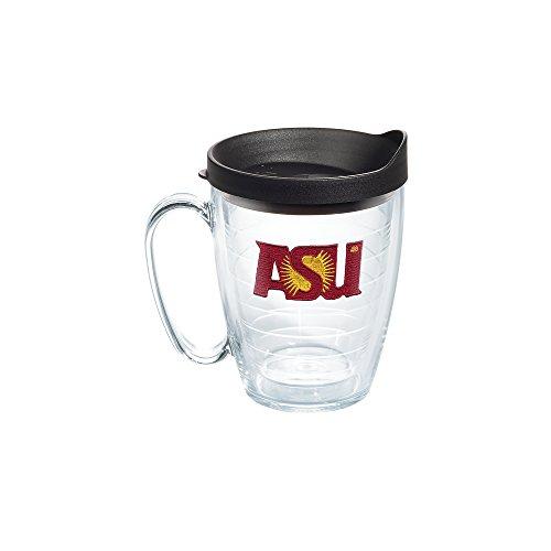 Tervis 1082393 Arizona State Sun Devils Tumbler with Emblem and Black Lid 16oz Mug, Clear