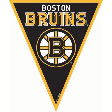 Amscan NHL Licensed Boston Bruins Pennant Banner, 1 Piece, Made from Plastic, Birthday/ Victory/ Tailgate Party, 12 Feet by