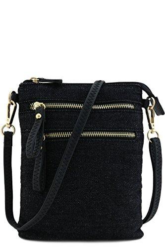Zipper Closure Pockets Denim - 7