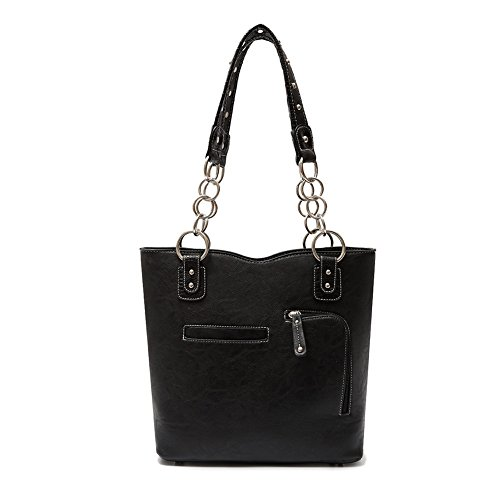 Hanbag Fashion Élégant Sac En athena Cb s Femmes 1 Cuir Noir Combo Set 2 Blancho Black Bag Pu Literie Portefeuille Handbag faqwABO