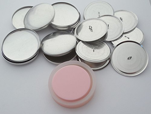 50 ButtonsUCover Cover Buttons with Wire Loop Back Size 75 and Assembly Tool Kit