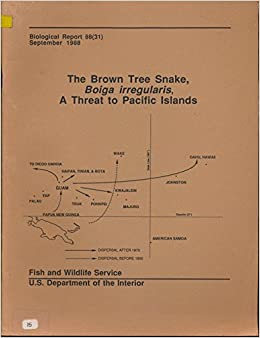 the brown tree snake, boiga irregularis, a threat to pacific islands:  thomas h  fritts: amazon com: books