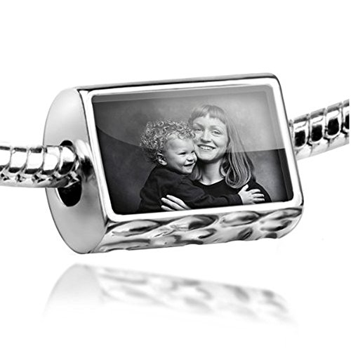NEONBLOND Beads A Personalized Photo Gift with your favorite photo - Fits Pandora Charm Bracelet ()