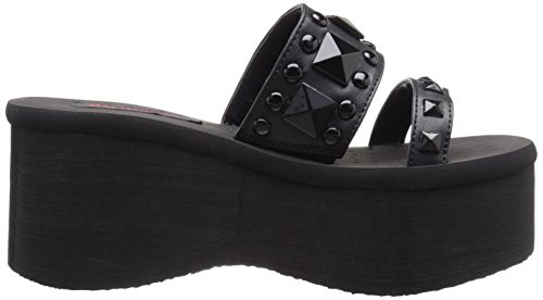 Demonia FUNN-18 FUNN18/BPU Blk Vegan Leather
