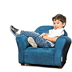 Keet Roundy Microsuede Children's Chair, Navy