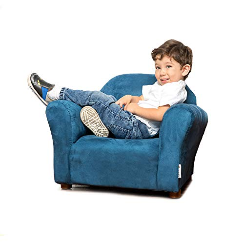 Keet Roundy Microsuede Children's Chair, Navy (Microsuede Child Recliner)