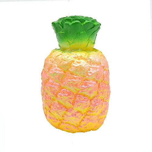 1 Jumbo Squishy Pineapple Slow Rising Scented Decor Simulation Fruit - 1 Cup Seeds Bottle