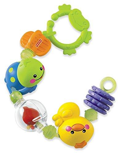 Fisher Price Cadena de juguetes y cascabel Mattel