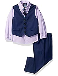 Baby Boys' Set with Vest, Shirt, Pant, and Bow Tie