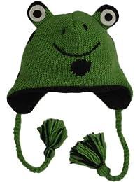 Revive Online Men's Nepal Animal Hat Wool Frog
