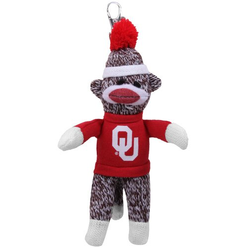 NCAA Oklahoma Sooners Sock Monkey Keychain