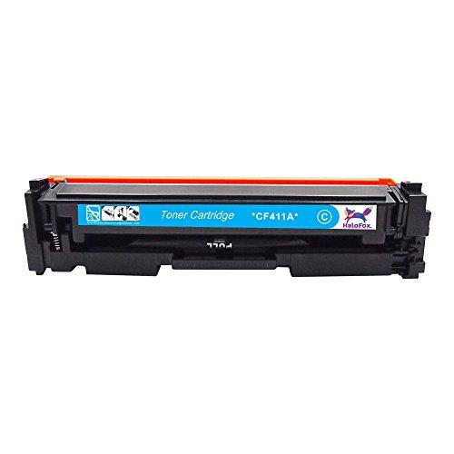 HaloFox 1 Set Toner Cartridges Compatible For 410A Toner CF410A CF411A CF412A CF413A For Color LaserJet Pro M452nw M452dw M452dn MFP M477fdn M477fnw M477fdw Printer (4Pcs, Black Cyan Yellow Magenta) Photo #7