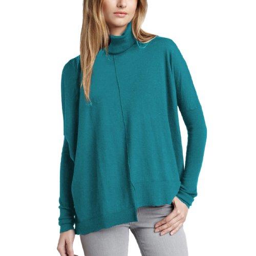 - Parisbonbon Women's 100% Cashmere Turtleneck Sweater Color Sky Blue Size 5X