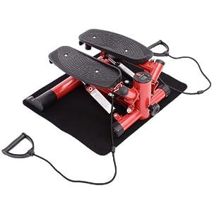 Sidestepper Mini Stepper Fitness Stepper Heimtrainer inkl. Trainingsbänder...