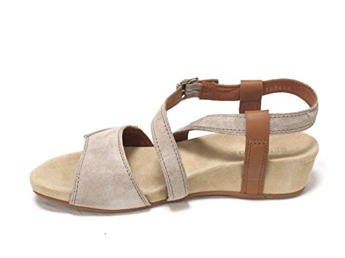 BENVADO - Sandalias de vestir de ante para mujer beige sabbia cuoio