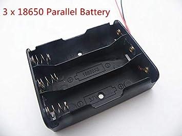 SENRISE Plastic Battery Holder Case 10PCS 4x 18650 Parallel Battery Holders 3.7V 18650 Battery Holders Batteries are not included