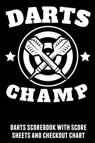 - Darts Champ: Darts scorebook with score sheets and checkout chart