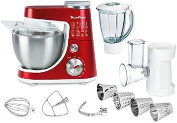 Moulinex QA404G15 Robot de cocina, 900 W, capacidad 1.5 L, acero inoxidable, color rojo: Amazon.es: Hogar