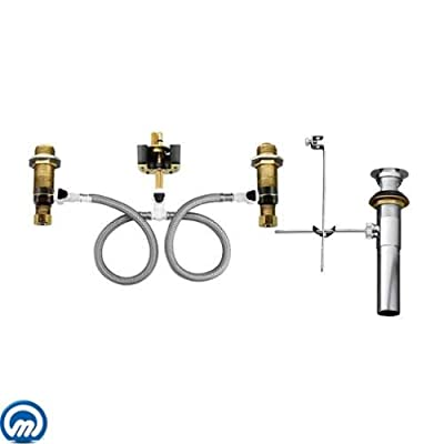 Moen 9000 1/2 Inch IPS 8 Inch - 16 Inch Centers Widespread Faucet Valve with Dra,