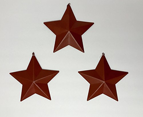 Metal Barn Tin Star Rustic Country Primitive Wall Décor Burgundy 7″ (6) Review