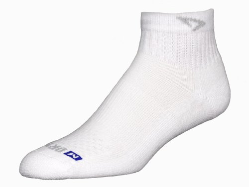 Drymax Golf 1/4 Crew Sock,White,Large