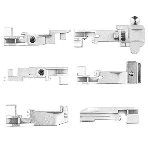 (Powstro 6pcs Serger Overlock Presser Foot Accessory, Sewing Machine Presser Foot for Overlock Machine)