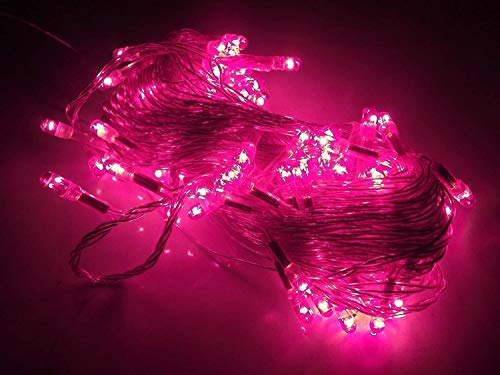 A & Y – Brand Still LED String Light for Diwali Christmas Home Decoration, 10meter 35 Foot (Pink)
