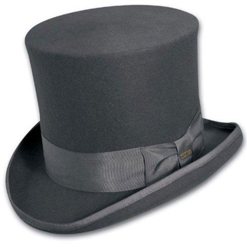Scala Classico Men's Wool Felt Top Hat,Grey,S