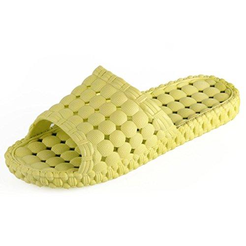 Samsay Unisex Indoor Bagno Doccia Pantofola Non Antiscivolo Scarpe Da Massaggio Bolla Verde Per Le Donne
