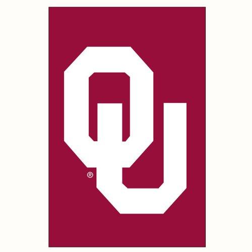 NCAA Oklahoma Sooners Crimson Applique Garden Flag (Ncaa Oklahoma Sooners Applique)