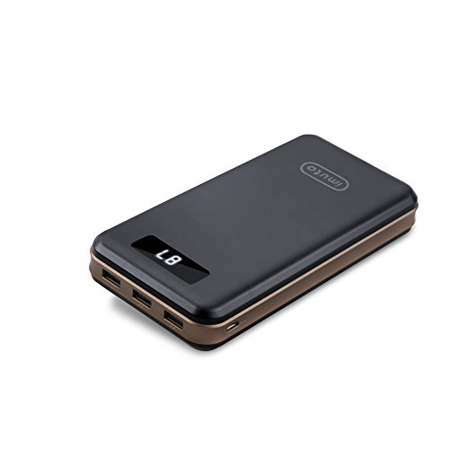 portable Charger iMuto 30000mAh extremely significant Capacity together with 3 Port USB end product power Bank External Battery go Charger for iPhone 7 7 Plus 6S iPad Samsung Galaxy S7 Edge and more portable power Banks