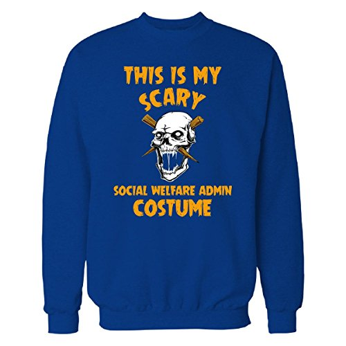 Welfare Mom Costume (This Is My Scary Social Welfare Admin Costume Halloween - Sweatshirt Royal L)