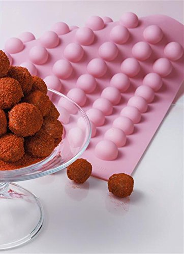 Silicone Chocolate Medium Classic Round Chocolate Truffle, Jelly and Candy Mold, 63 cavities, One step pop-out by Truffly Made (Image #8)