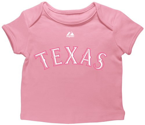 MLB Texas Rangers Player Name and Number Envelope Tee, Milkshake Pink, 12 Months Texas Rangers Player