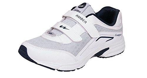 Campus Amber-V White Women Velcro Shoes