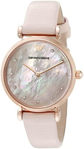 Emporio Armani Woman s Watch – mother of pearl MOP dial