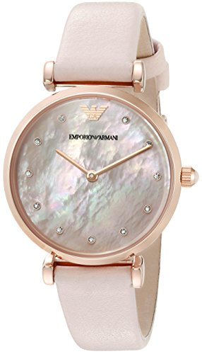 Emporio Armani Women's AR1958 Retro Blush Leather Watch