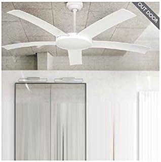 Ventilador de techo para exterior IP44 Blanco - 5 Palas Blancas: Amazon.es: Hogar